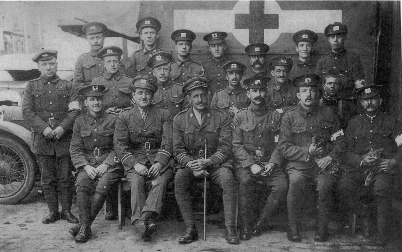 Patrick Singer Fowler WW1 Red Cross member (top left) - image courtesy Ernie Fowler