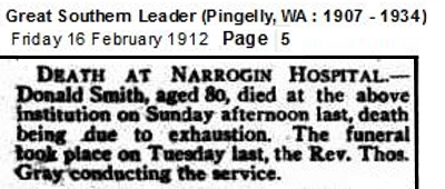 Donald Smith Narrogin death notice trove18652415