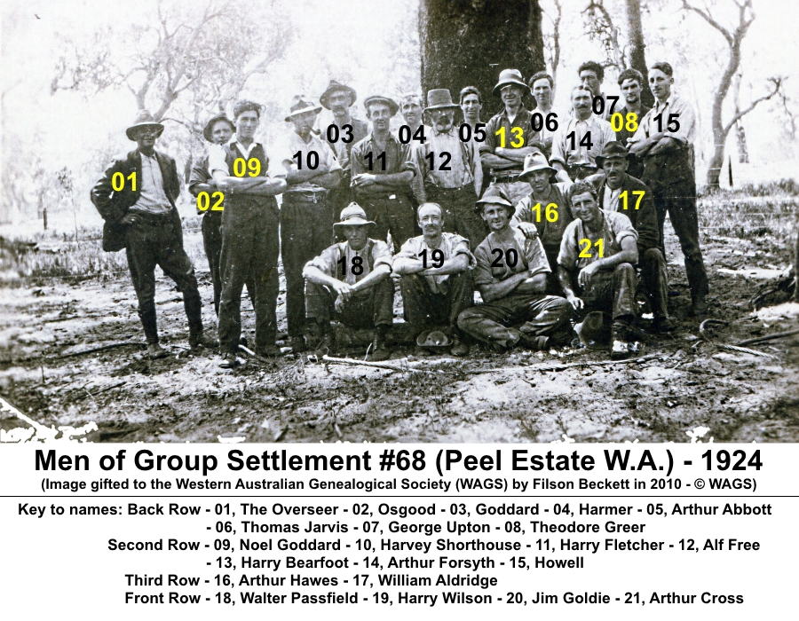 Men of Group Settlement #68 Peel Estate 1924